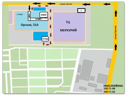 Схема проезда к ТПК ВЛАДМЕБЕЛЬ
